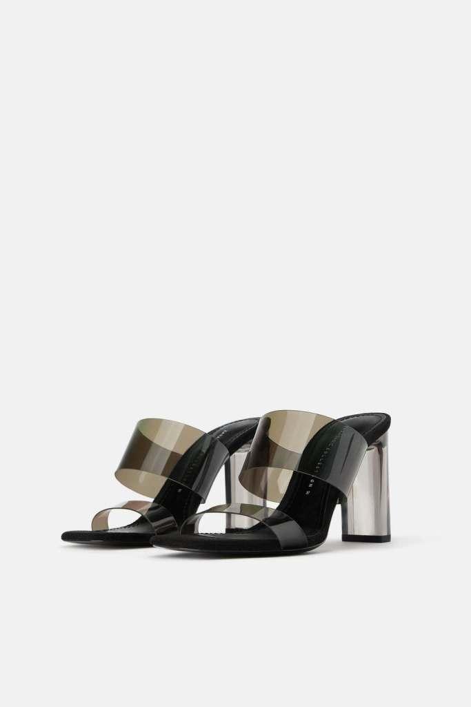 scarpa alta con inserti in vinile