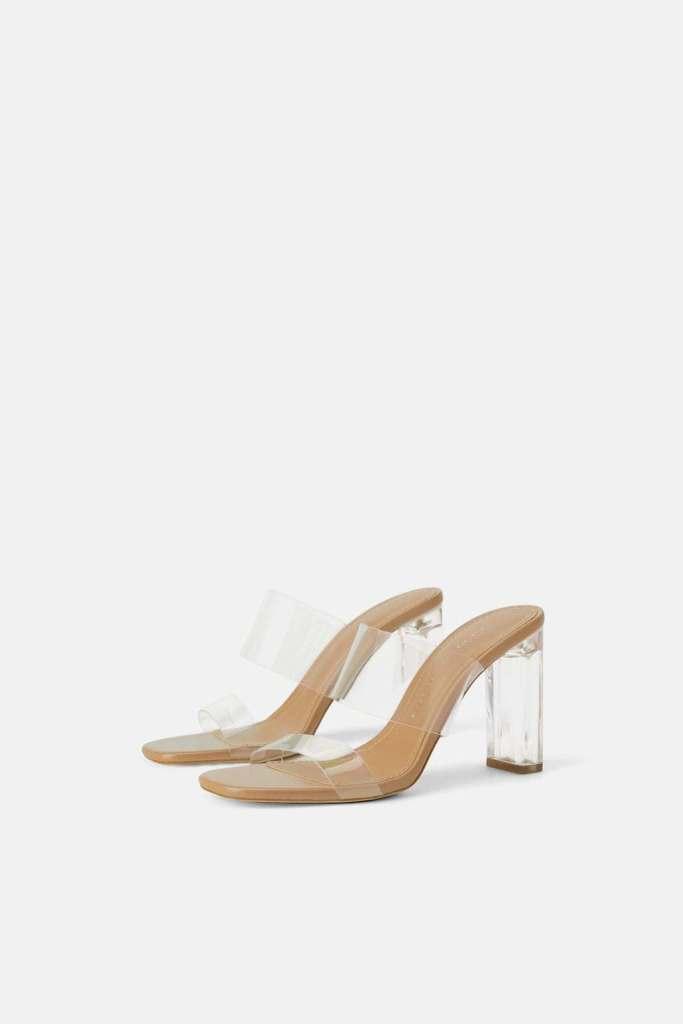 scarpe con inserti in vinile